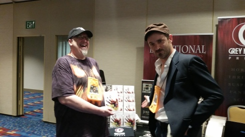 Me and the entirely too energetic Josh Malerman